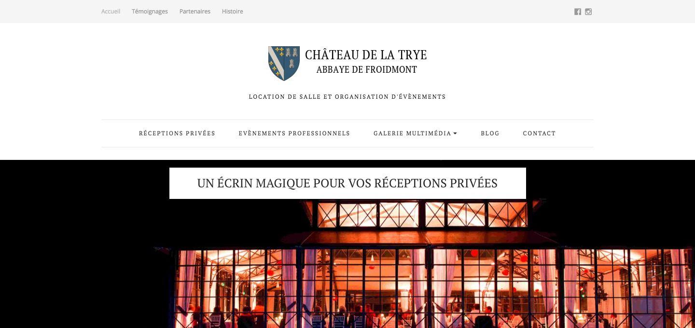 Site Internet du Château de la Trye