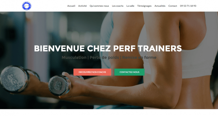 site-vitrine fitness