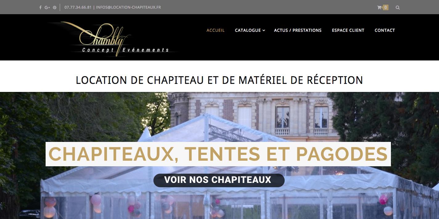 Création du site wordpress location-chapiteaux.fr