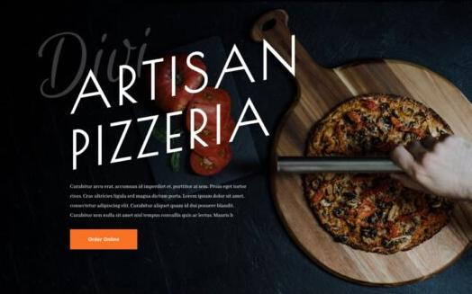Création de site internet pour pizzeria