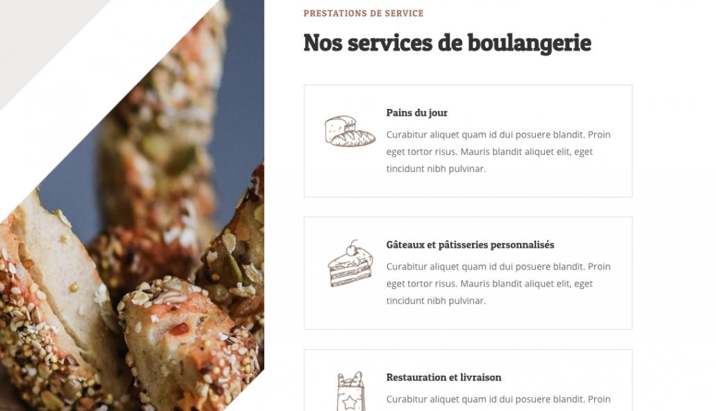 Landing page boulanger artisan