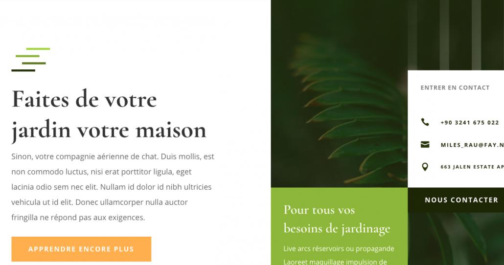 Landing page pour artisan jardinier oise