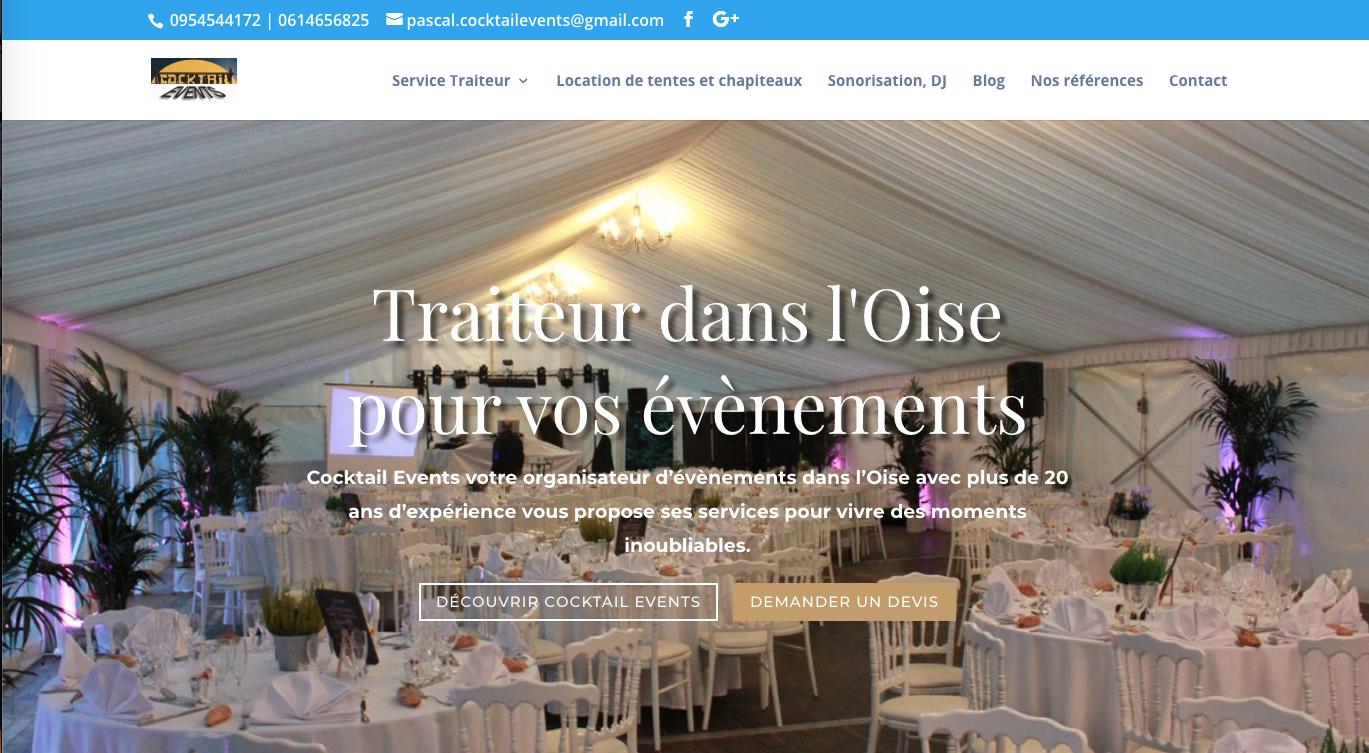 agence web : création du site cocktail events